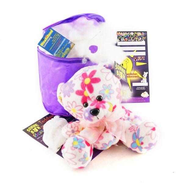 Teddywerkstatt-Bastelset-Teddybär-Blümchen