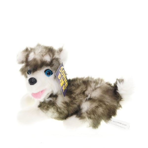 Teddywerkstatt-Plüsch-Husky-Fluffy-liegend