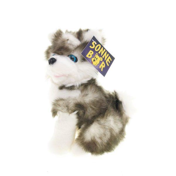Teddywerkstatt-Plüsch-Husky-Fluffy-sitzend