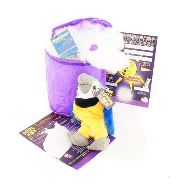 Teddywerkstatt-Bastelset-Papagei-Zaida-gelb