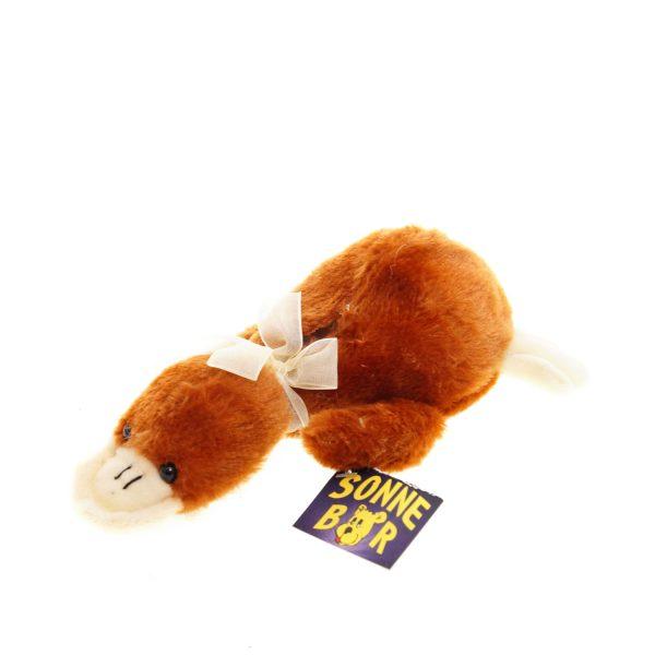 Teddywerkstatt-Plüsch-Ente-Quaky-braun