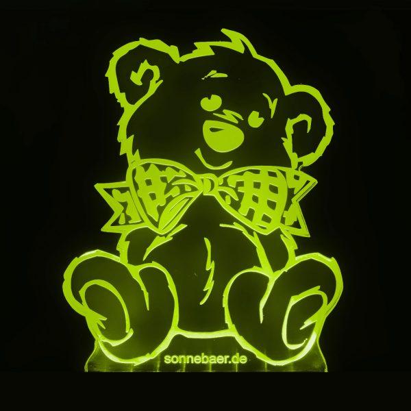 Teddywerkstatt-LED-Leuchte-Teddy-gelb