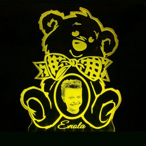 Teddywerkstatt-LED-Leuchte-Teddy-Foto-gelb