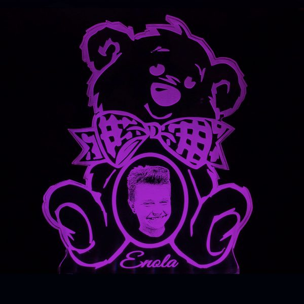 Teddywerkstatt-LED-Leuchte-Teddy-Foto-lila