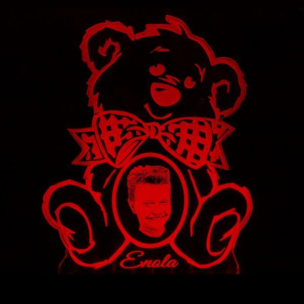 Teddywerkstatt-LED-Leuchte-Teddy-Foto-rot