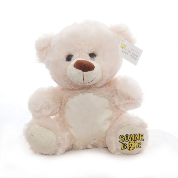 """Teddy """"Happy"""" mit Lederbauch, uni"""